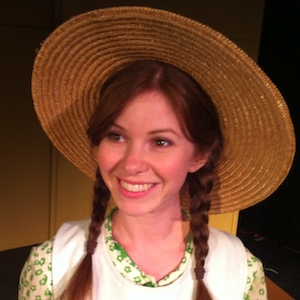 Alison Woods in costume test for Anne Shirley.