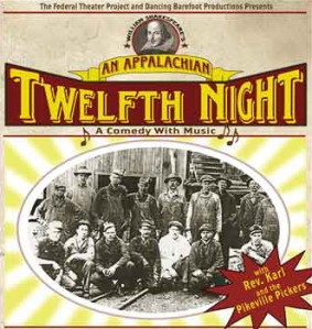 Shakespeare's Twelfth Night set in 1938 Appalachia is a foot-stompin' comedy with music!